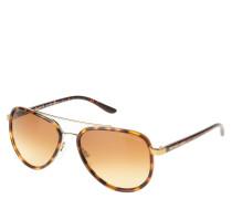 "Sonnenbrille ""MK5006"", Havana-Look, Piloten-Stil"