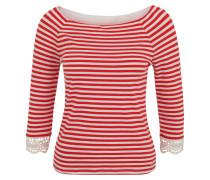 Shirt, 3/4-Arm, gestreift, Spitze