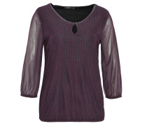Shirt, 3/4-Arm, transparente Ärmel, Mesh