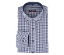 Businesshemd, Modern Fit, Button-Down-Kragen, Karo