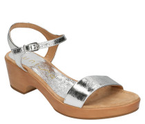 "Sandaletten, ""RITA"", Leder, Metallic-Look"