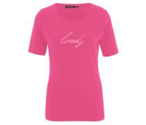 T-Shirt, Rundhals, Strass, uni