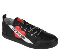 Sneaker, Herz-Patches, Marken-Print, Logo-Schnürsenkel