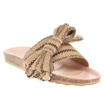 Slides, Schleife, gestreift, Textil, Glitzer-Garn