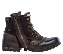 """Boots """"CLUTCH"""", Leder, eckiges Karree"""