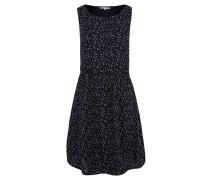 Minikleid, Allover-Print, ärmellos, Taillenbund
