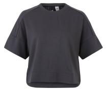 T-Shirt, perforierter Rücken, Logo, cropped