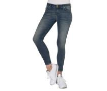 "Jeans ""Slandy"", Super Skinny Fit, Used-Look, Reißverschluss-Detail"
