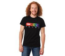 T-Shirt, Logo-Print, Baumwolle
