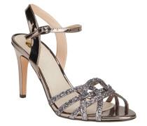 Sandaletten, Metallic-Look, Glitzer, Riemchen
