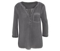 Blusenshirt, Henley-Ausschnitt, Brusttasche, Ärmel-Riegel