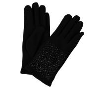 Handschuhe, Strass, gefüttert