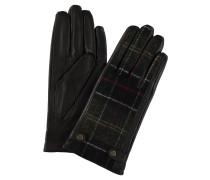 Handschuhe, Glattleder, Tartan-Muster