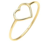 Ring Herz Trendsymbol 375 Gelb