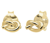 Ohrringe Knoten Filigran Basic Hochwertig 375 Gelb