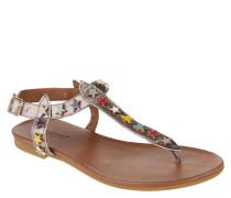 Sandalen, Stern-Nieten, Metallic-Look