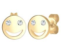 Ohrringe Smiley Face Emoji Swarovski® Kristalle 925 Silber