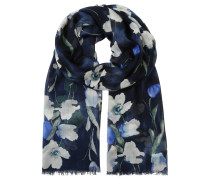 """Schal """"Kiera"""", florales Design, Fransen"""