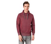Sweatshirt, Wickelkragen, Tunnelzug, Kängurutasche, Streifen