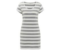 Nachthemd, kurz, Baumwolle, gestreift, Print