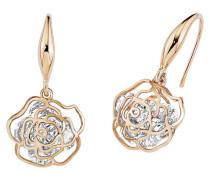 Ohrhänger Rose mit Kristallen 9136742 rosevergoldet