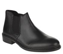 Chelsea Boots, Leder, uni, Blockabsatz