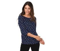 Blusenshirt, Allover-Print, 3/4-Arm, seitliche Schlitze