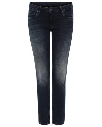 Jeanshose, Slim Fit, Reißverschluss-Details