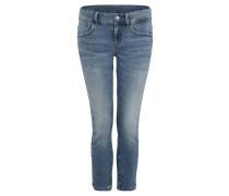 """Jeans """"Lynn"""", Skinny Fit, 7/8-Länge, Farbspritzer"""
