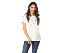 """T-Shirt """"Seaward Tee"""", maritimer Flock-Print"""