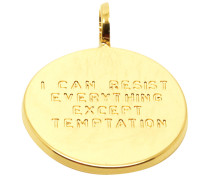 """""""I Can Resist Everything Execpt Temptation"""" Medaille Anhänger PME-02.G"""