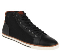 "Sneaker ""Hasher"", hoher Schaft, Textil, Leder-Optik"
