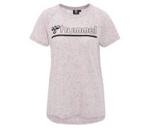 T-Shirt, Logo-Print, verlängerter Rücken, meliert