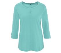 """Shirt """"Hannah"""", 3/4-Arm, uni, Flammgarn, Biesen"""