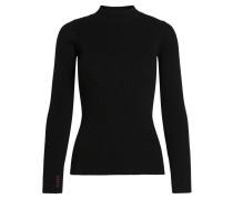 Pullover, Strick, Stehkragen, Ripp-Muster