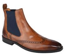 Chelsea Boots, Lyralochung, Leder, elastischer Einsatz