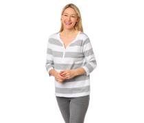 Shirt, 3/4 Arm, reine Bio-Baumwolle, Streifen, Henley-Ausschnitt