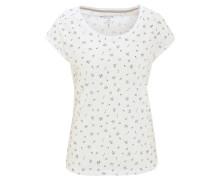T-Shirt, Allover-Print, Rundhals, Baumwolle