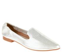 Loafer, Glitzer, spitz zulaufend, Metallic-Look
