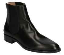 Chelsea Boots, Leder, Spitz, Blockabsatz