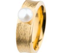 Ring, Edelstahl, Gelb beschichtet