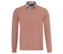Poloshirt, Melange, Stretch-Anteil, Emblem