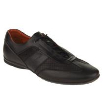Sneaker, Leder, Karo-Details, Wechselfußbett