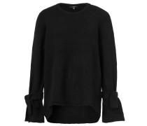 Pullover, Feinstrick, Rollsaum, Schleifenbänder