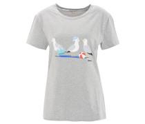 T-Shirt, Möwen-Print, Rundhalsausschnitt