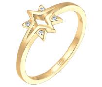 Ring Sterne Starburst Swarovski® Kristalle 925 Silber