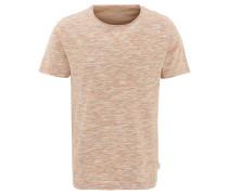T-Shirt, Bio-Baumwolle, meliert, Ziernähte, Brusttasche