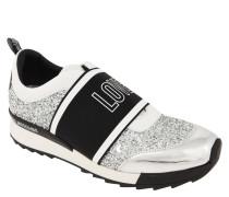 Sneaker, Glitzer, Love-Schriftzug, Metallic-Details