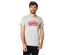 T-Shirt, Logo-Print, Baumwolle, Rippblende