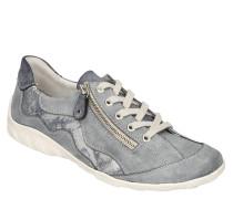 Schnürer, Leder, Wellen-Detail, Reißverschluss, Jeans-Optik